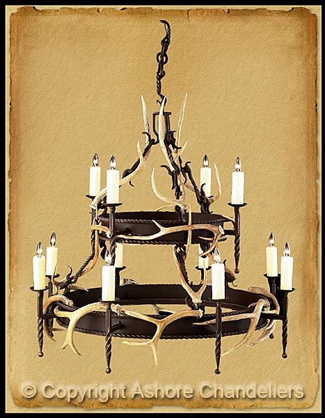 Ashore chandeliers antler iron chandeliers ch 1018 aloadofball Image collections